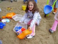 Xoguetes novos no patio